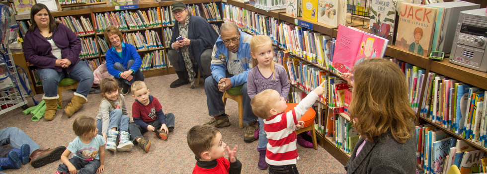 Storytime at the North Muskegon Branch Library.
