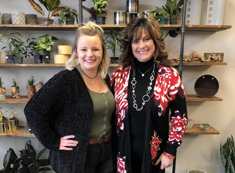 Kayla Moberly and Annmarie Thornton, co-owners of Botanica Modern Market