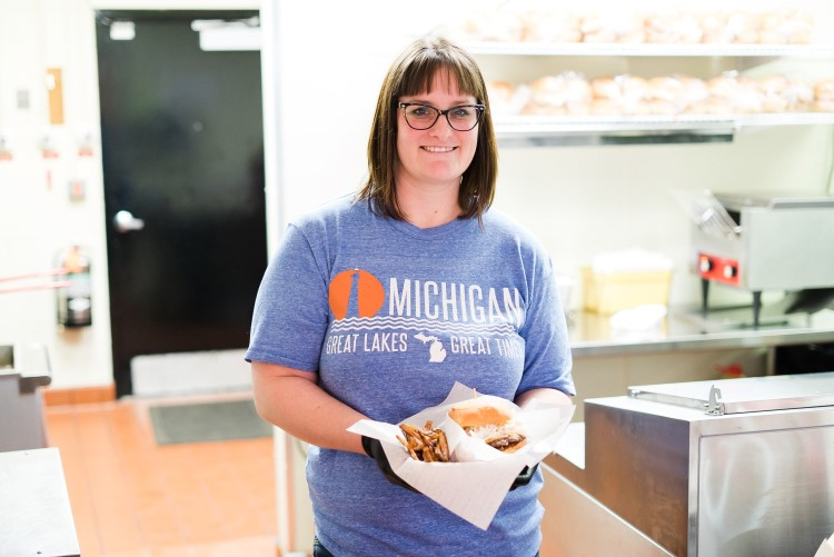 Co-owner Ashley Welch of Midland Burger Company