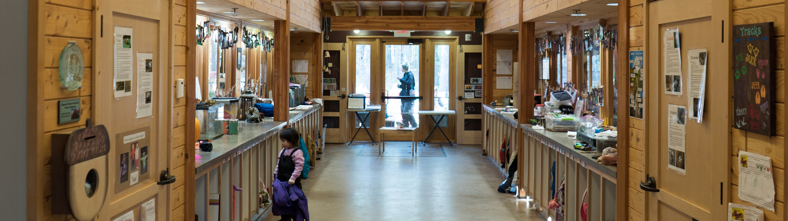 Inside the nature preschool at Chippewa Nature Center