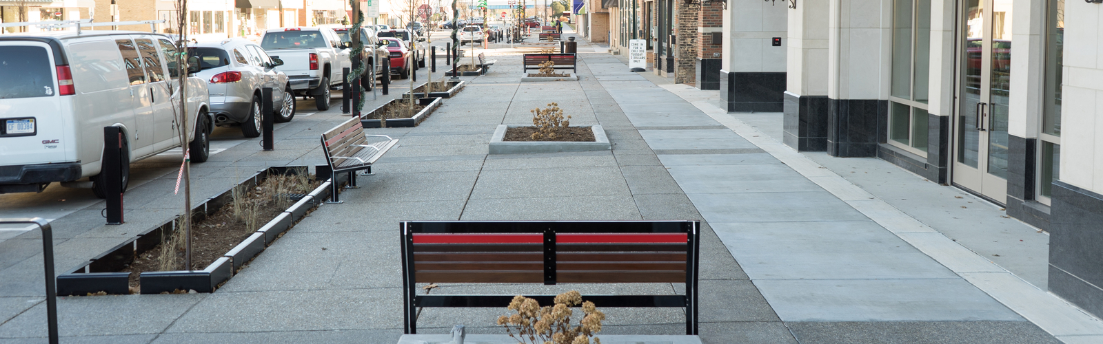 Downtown Midland's new streetscape