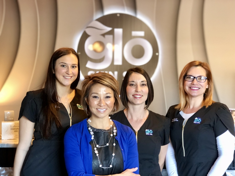 Meko Price and her team at the new Glo Skin Spa