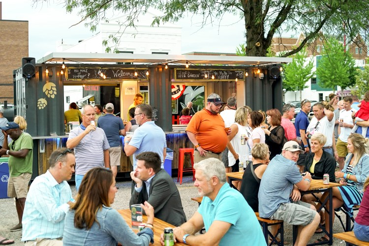 Larkin Beer Garden, a favorite summer gathering place in Downtown Midland