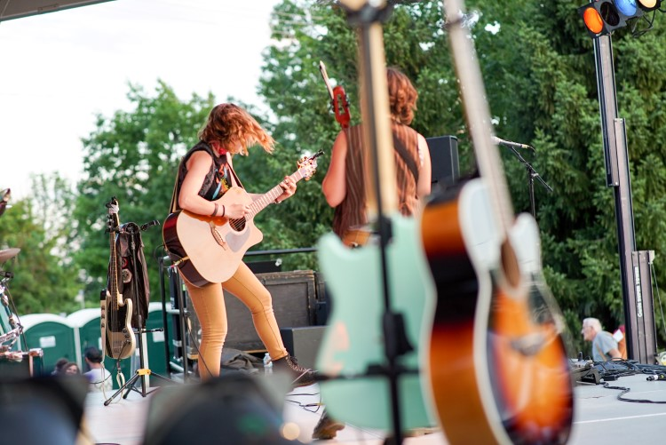 The Accidentals live on stage at Midland Riverdays