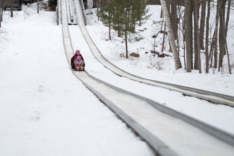 The toboggan run at City Forest
