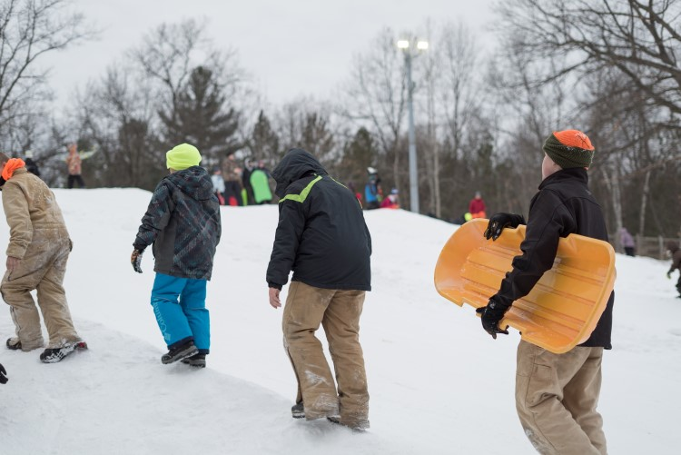 Weekend sledding fun at City Forest
