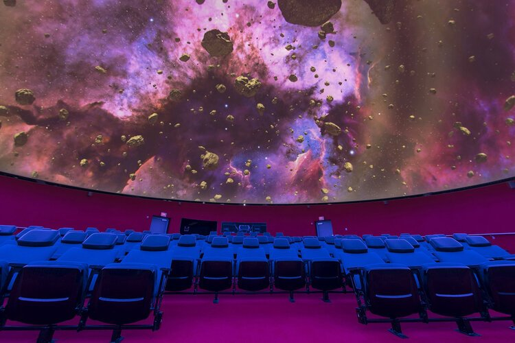 The Saginaw Bay Symphony Orchestra will perform live music choreographed to unique visual effects inside the Planetarium's Dome360 Theater.
