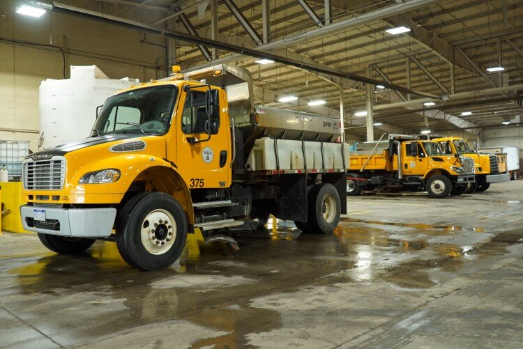 Snow removal and salt trucks often work in 16 hour shifts when bad weather calls.