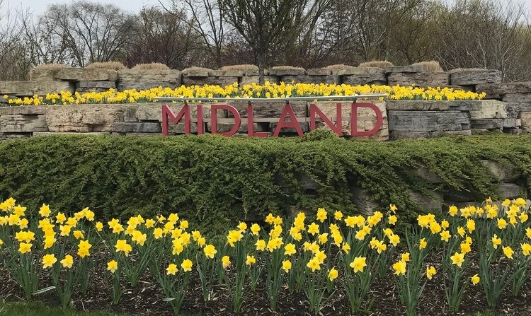The City of Midland has planned landscaping at all of Midland's entry points.