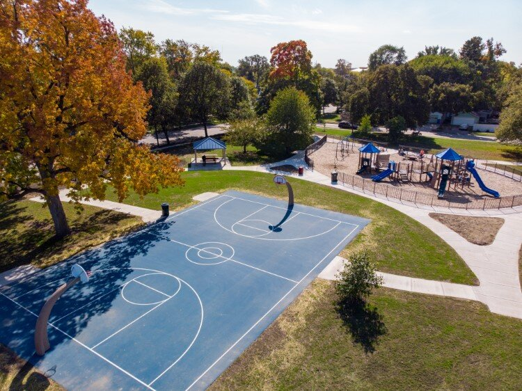 This summer, Grove Park in Midtown gained new playground equipment, an upgraded outdoor basketball court, small gazebo, fencing, and landscaping.