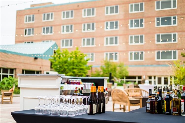 "The courtyard of the H Hotel during the recent ""Dinner on Main"" event to benefit the area's cancer services."