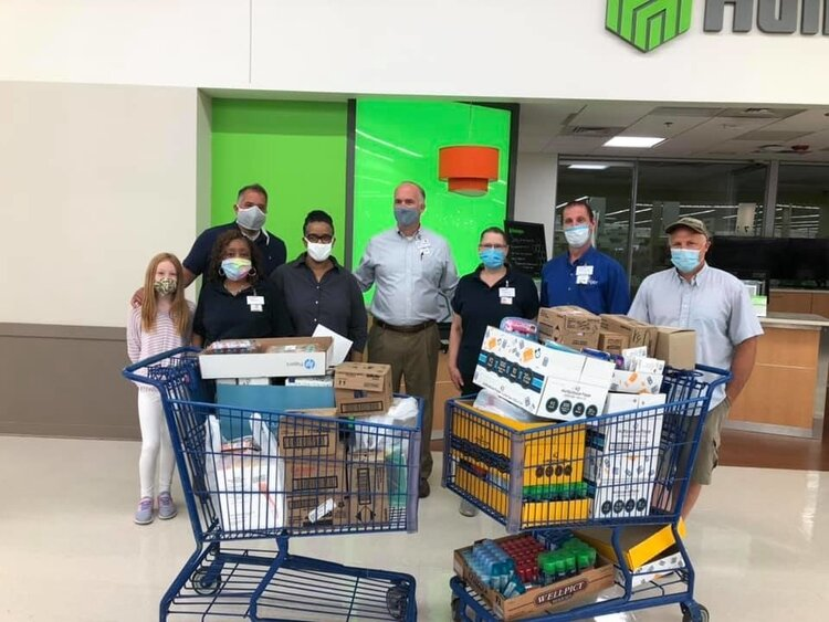 The Great Lakes Bay Regional Alliance and volunteers at Meijer in Saginaw.