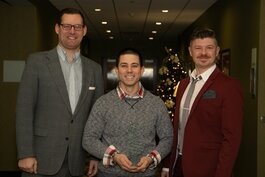 Michael Westendorf, Patrick McElgunn and Nic Von Schneider, nominees for the Entrepreneur of the Year Award.