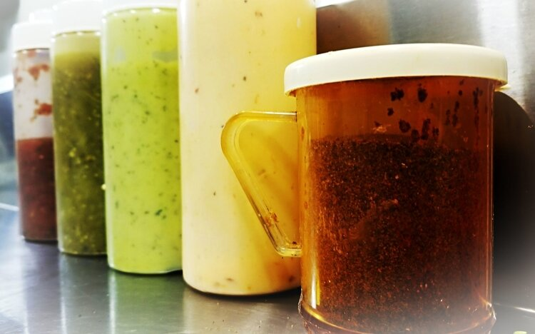 All sauces and sides are made in house.