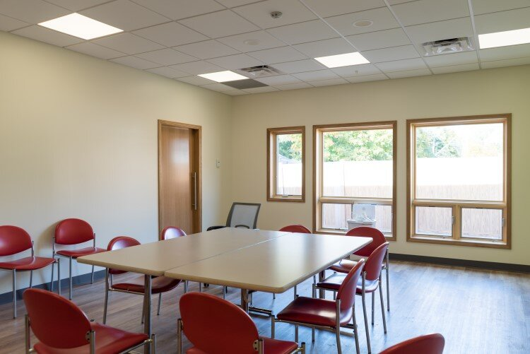 Meeting spaces for support groups are available for use after hours at Ten16.
