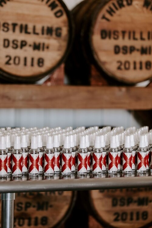 Currently, Third Wind is producing hand sanitizer for essential workers, but hopes to release its first whiskey this summer.