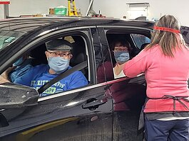 A drive-thru COVID-19 vaccination clinic was held at the Midland County Senior Services building on Wednesday, Jan. 20.