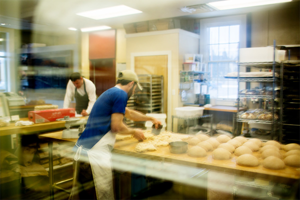 Pleasanton Bakery: Michigan sourced organic grains, naturally leavened, wood fired brick oven. / Elizabeth Price