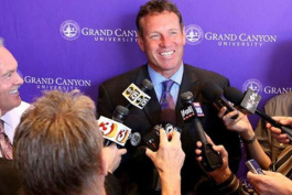 Dan Majerle as coach at Grand Canyon University.