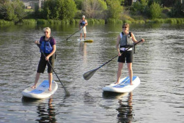 Stand-up paddleboarding is increasingly popular.