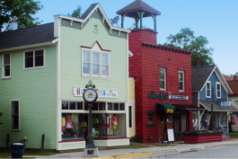 Downtown Suttons Bay, Michigan.