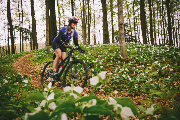 Biking the paths of the Arcadia Dunes Nature Preserve. / Beth Price