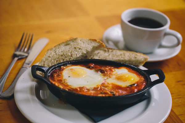 A dish called Eggs in Purgatory.