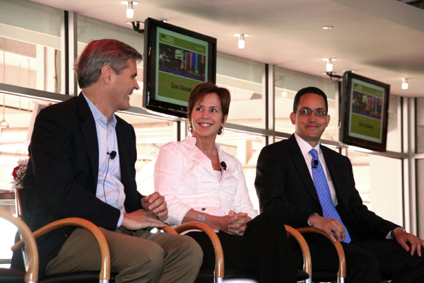 Steve Case, Jean Case and Jon Graves sit and discuss Starup Partnership America.