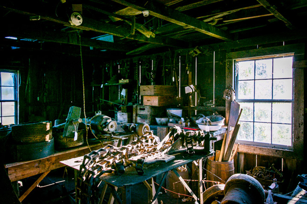Historic workshop on Campbell-DeYoung Farm. / Andrew Williamson