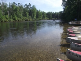Kayaks on the Au Sable River
