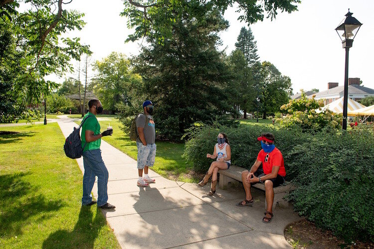 Albion College has adopted a three-pronged approach to fighting COVID-19 on campus.