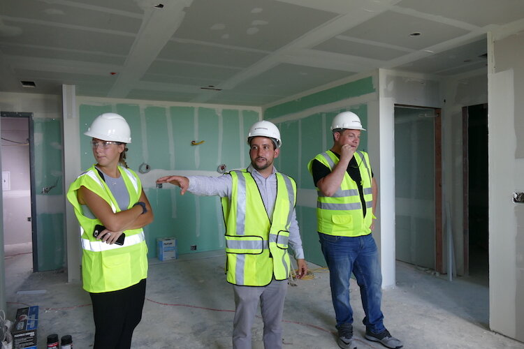 Jake Vella, Senior Sales Consultant of The Milton, points out what to expect when this renovation is done.