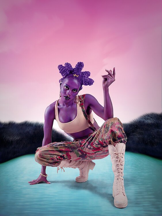 Juliana Huxtable, Untitled (Psychosocial Stuntin'), 2015, Color inkjet print, Acquisition Committee 2015.8.1 © Juliana Huxtable, Courtesy the artist and American Federation of Arts, Black Refractions exhibit