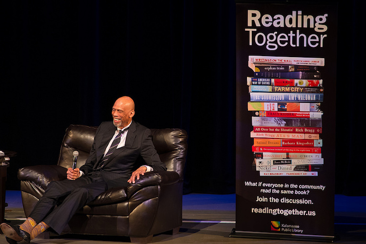 Kareem Abdul-Jabbar at the Reading Together community discussion