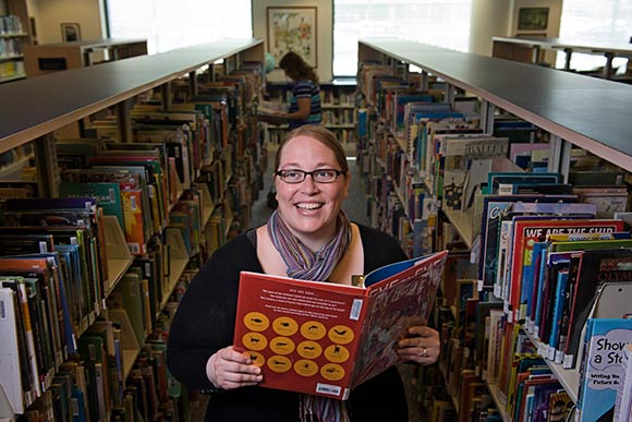 Andrea Vernola, children's programming librarian at Kalamazoo Public Library