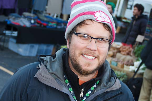 Farmers Market Manager, Chris Broadbent