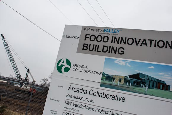 Construction at the Food Innovation Building