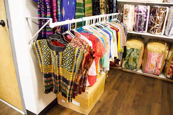 Lairan stocks traditional Burmeses clothing