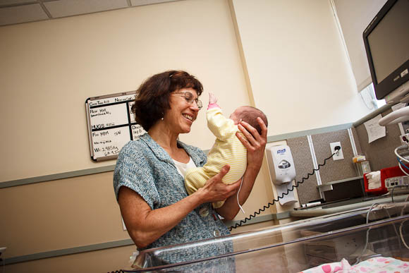 Robin Pierucci, MD with baby