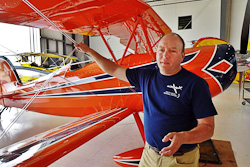 Peter Bowers, president WACO Aircraft Corp