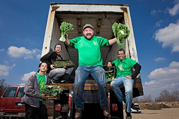 Jeremy Andrews and his Grown in BC Food Hub Crew