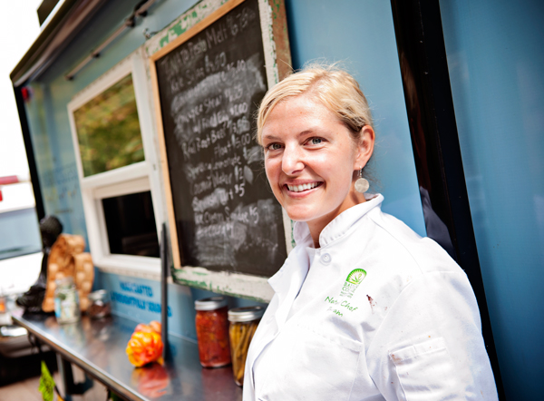 Bridgett Blough, owner and chef for The Organic Gypsy food truck