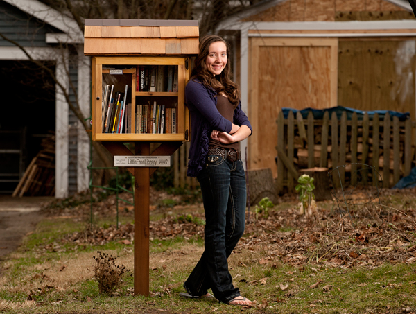 Hannah Lane-Davies is one of the creators of Little Free Library