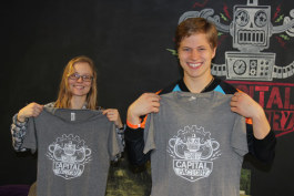 WMU students Katie Marshall and Ethan Archer at capital factory