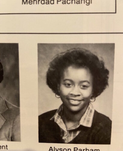 In 1980, Alyson Parham was a cheerleader and class president at Kalamazoo Central High School.