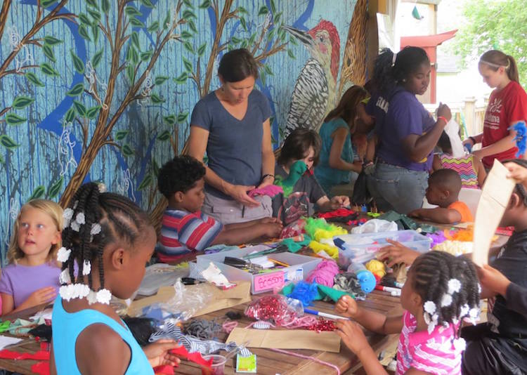 Peace House is bustling with activity and creativity in the summer months.