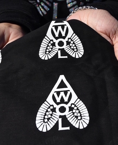 Shannon Patrick has created many ways to display her individualized logo for AWOL:  All Walks of Life