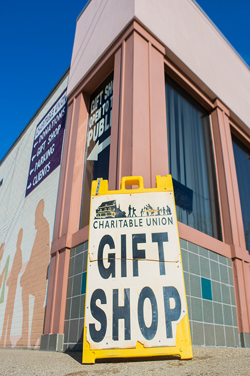 About 16 percent of the total budget for the Charitable Union comes from sales in its gift shop.