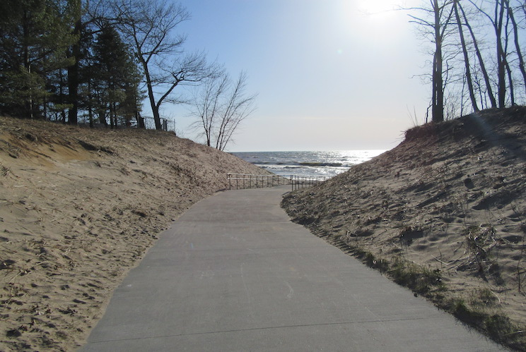 The Pilgrim Haven Natural Area features a barrier-free walkway to the beach.