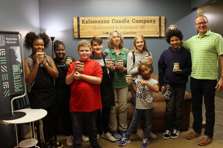 Big Brother Big Sister participants visit local candle makers, Kalamazoo Candle Co.